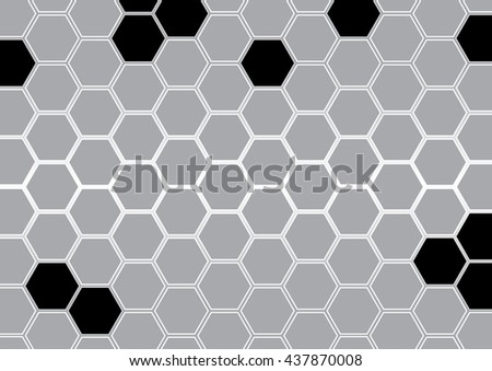 Abstract gray polygon background vector illustration