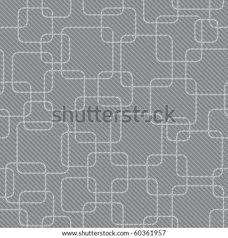 abstract gray rounded square background (seamless pattern) - stock vector
