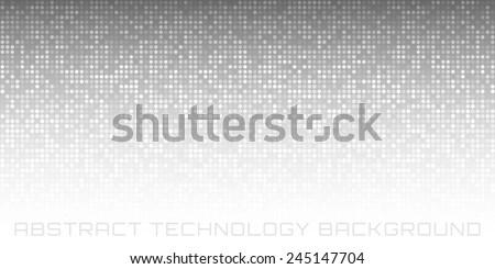 Abstract Gray Technology Horizontal Background, vector illustration  - stock vector