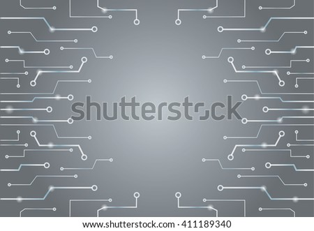 Abstract gray technology lines art background and space