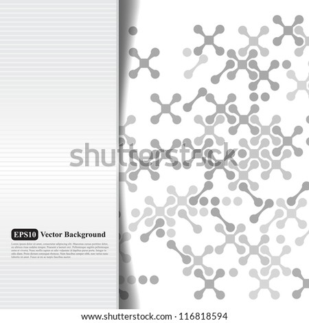 Abstract grayscale card with crosses - stock vector