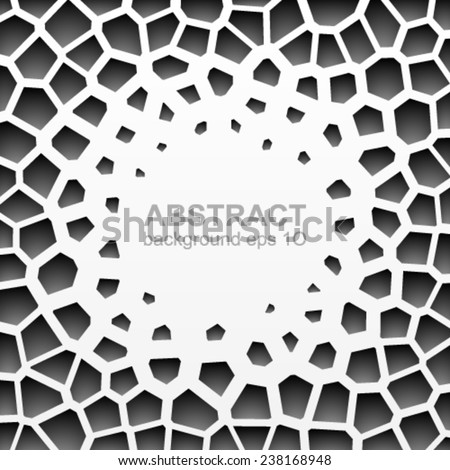 Abstract grayscale geometric pattern. - stock vector
