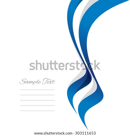Abstract Greek right ribbon vector