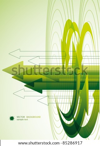 Abstract Green Arrow Bacground - stock vector