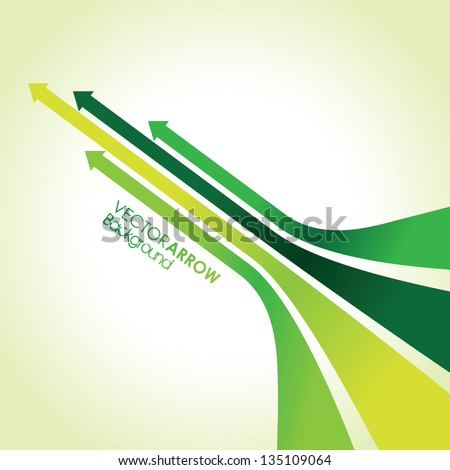 abstract green arrow strips - stock vector
