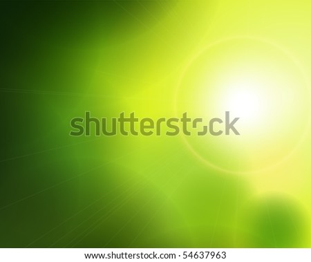 Abstract green background. Vector illustration. - stock vector