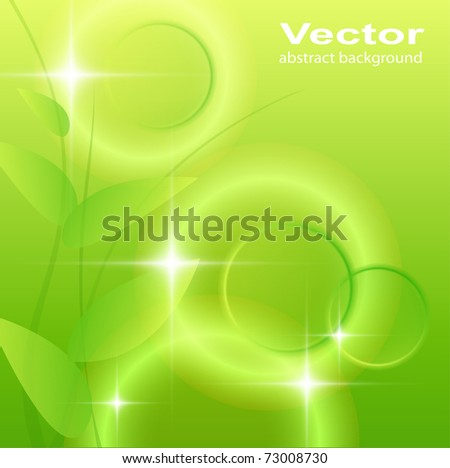 Abstract green background, vector illustration. - stock vector