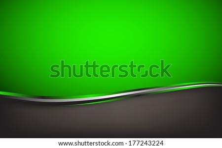 Abstract green background. Vector Illustration. Clip-art - stock vector