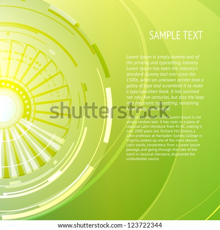 Abstract green background with place for your text. Vector illustration.