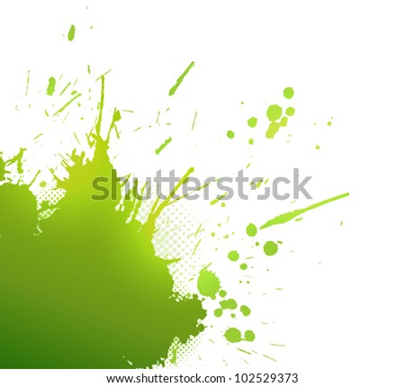 Abstract green background with splashes