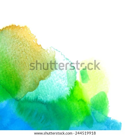 abstract green-blue watercolor background/ divorce/ vector illustration - stock vector