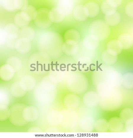 abstract green bokeh background - stock vector