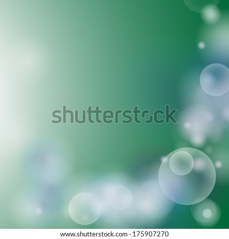 Abstract green bokeh  background.vector EPS10