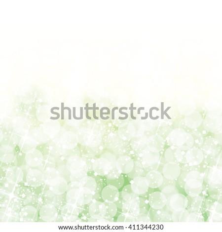 Abstract green bokeh lights background. Vector illustration. - stock vector