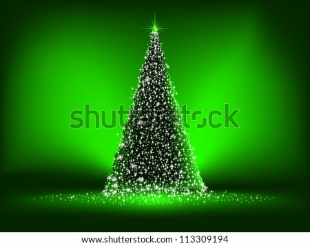 Abstract green christmas green on green background. EPS 8 vector file included - stock vector