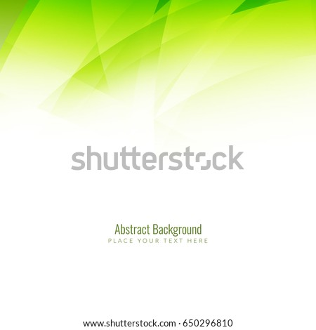 Abstract green color wave background