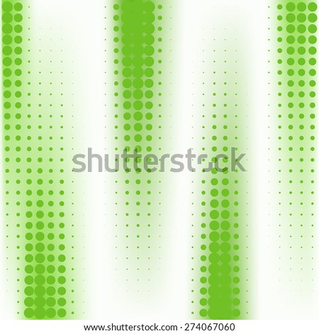 Abstract green dotted vector background