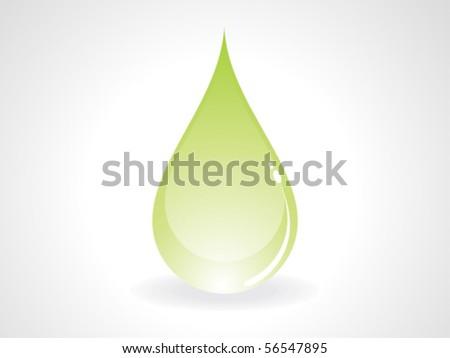 abstract green drop vector illustration - stock vector