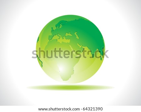 abstract green earth icon vector illustration