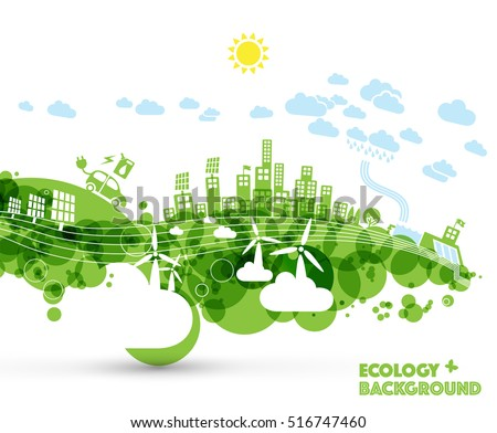 Abstract green ecology world background.