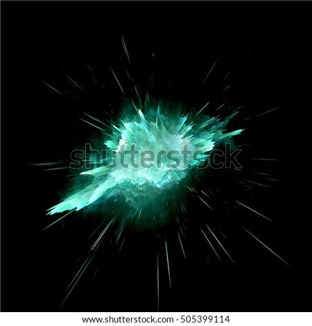 Abstract green explosion colorful background. Splash screen explosion ready for your design. Vector EPS10.
