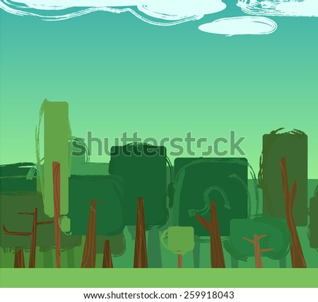 abstract green forest background
