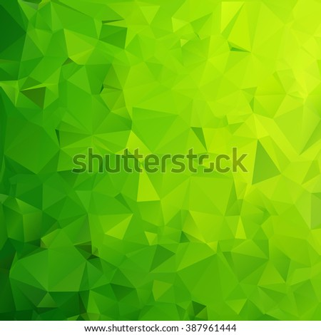 Abstract green geometric polygon background - stock vector