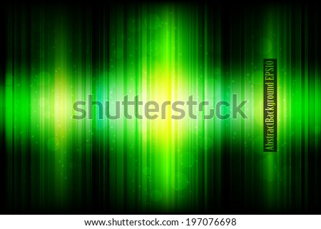 Abstract green glowing background / Vector Illustration - stock vector