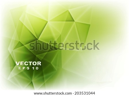 Abstract green glowing tech background. Vector design - stock vector