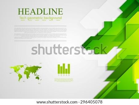 Abstract green hi-tech bright background. Vector design - stock vector