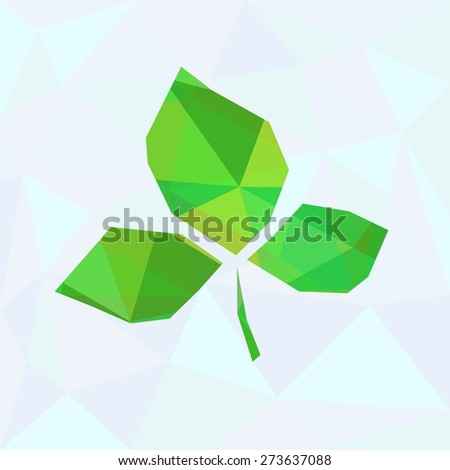 Abstract Green Leaves - stock vector