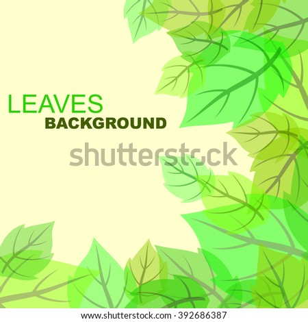 Abstract green leaves background