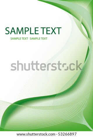 Abstract green line background