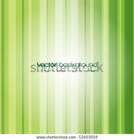 Abstract green lines vector with text