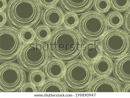 Abstract green pastel circles vector background