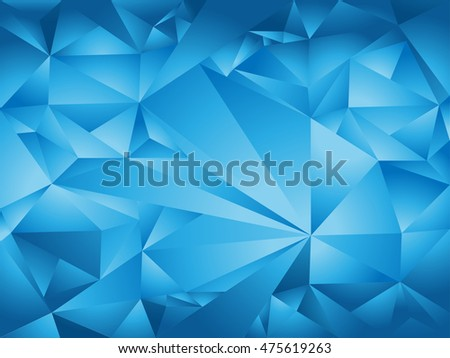 abstract green polygon background with triangle shape