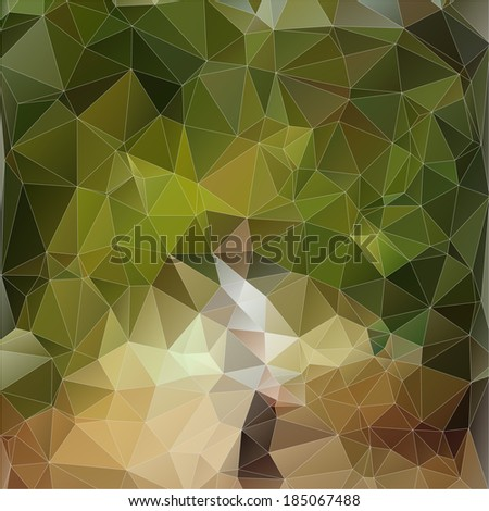 Abstract green polygonal background. Triangles background for your design - stock vector