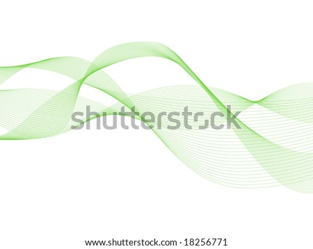 Abstract green ribbons