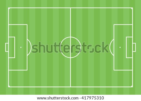 abstract green soccer field with white marks - stock vector