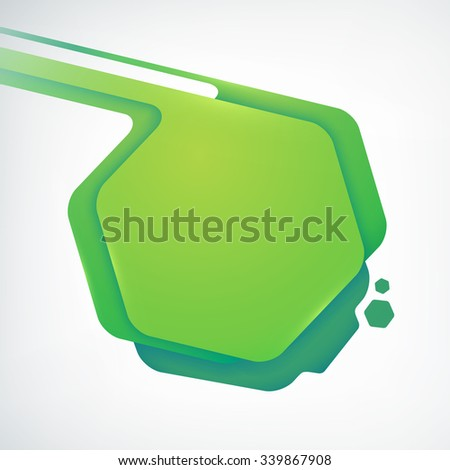 Abstract green speech bubble vector background. Vector Illustration, eps10, contains transparencies. - stock vector