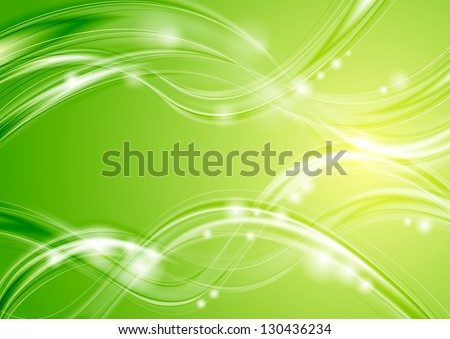 Abstract green spring background. Vector design eps 10 - stock vector