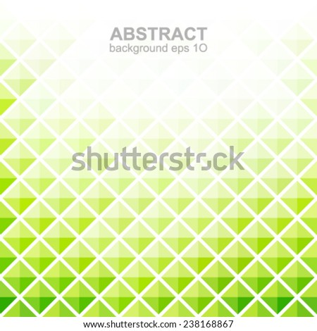 Abstract green square pattern background.