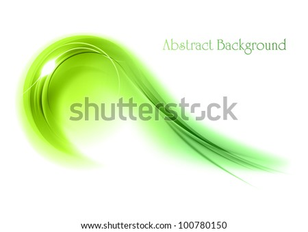 abstract green symbol on the white - stock vector