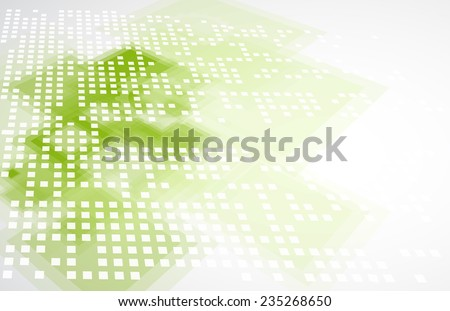 Abstract green technolgy business concept with keyboard. Ecology background - stock vector