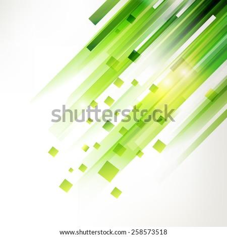 Abstract green technology modern geometric spot. Linear fresh green background. Modern summer design elements. - stock vector