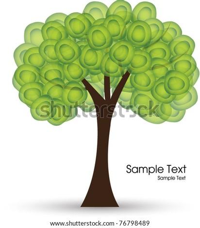 abstract green tree - stock vector