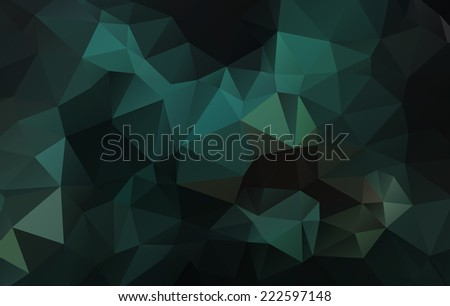 Abstract Green Triangle Background, Vector  - stock vector