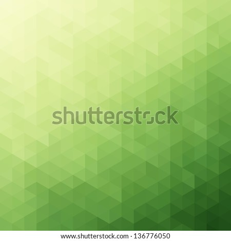 Abstract Green Triangle Background, Vector Illustration - stock vector