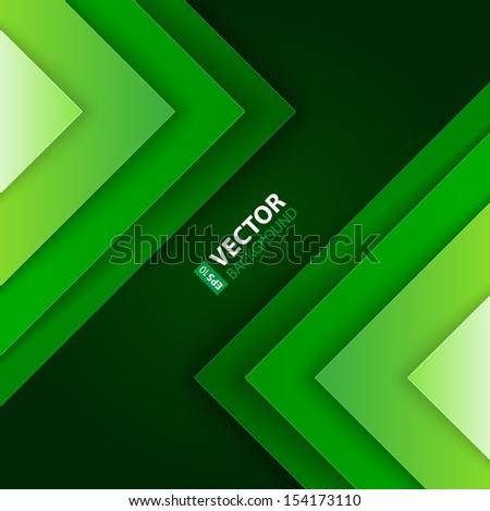 Abstract green triangle shapes background. RGB EPS 10 vector illustration - stock vector