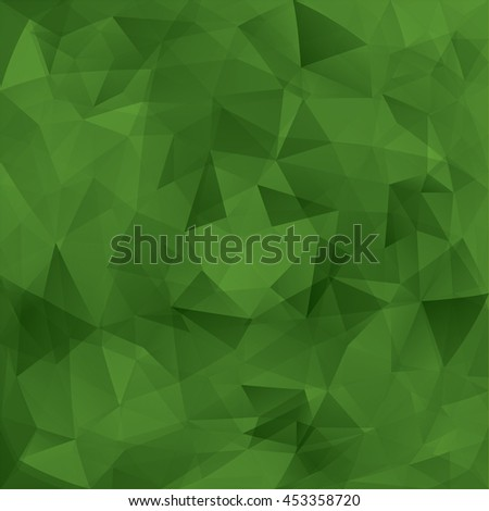 Abstract green triangles vector background. - stock vector